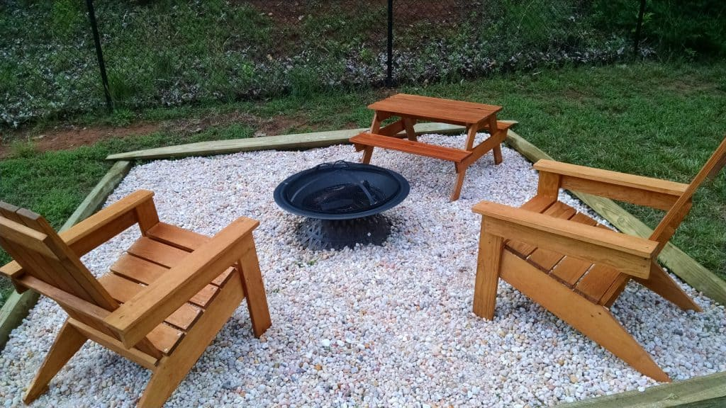 Adirondack Chair and Picnic Table