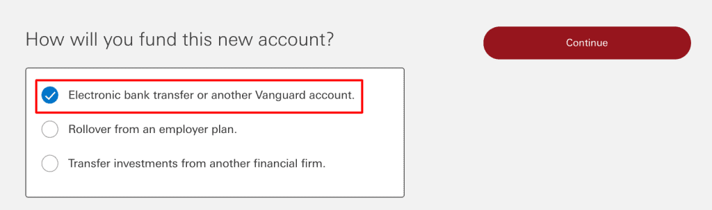Step 3 Open a Vanguard Brokerage Account